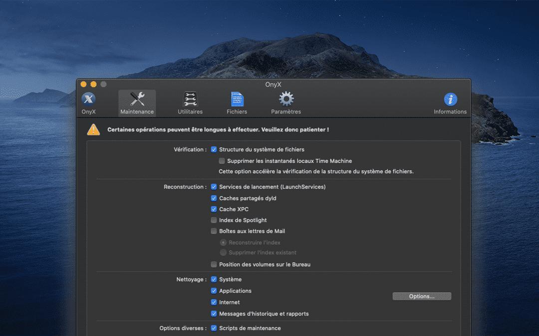 ONYX: l'indispensable utilitaire pour le Mac